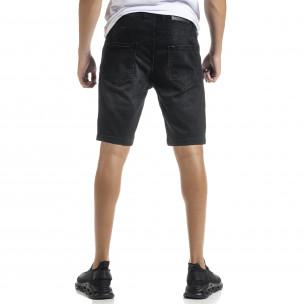 Big Size Basic мъжки черни къси дънки Blackzi 2