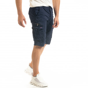 Мъжки тъмносини къси карго панталони