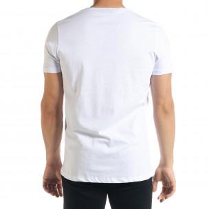 Мъжка тениска Panda Criminal в бяло  2