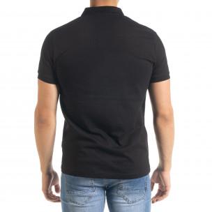 Basic Polo мъжка тениска в черно  2