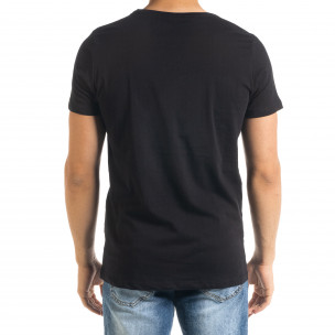 Мъжка тениска Panda Grass в черно 2