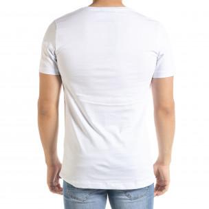 Мъжка бяла тениска с принт Easier 2
