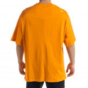 Super Oversize мъжка тениска в оранжево  2