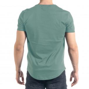 Basic мъжка тениска в пастелно зелено 2