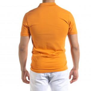 Мъжка тениска пике Polo shirt в оранжево  2