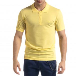 Мъжка тениска пике polo shirt в жълто Lagos