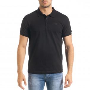 Basic polo мъжка тениска в черно