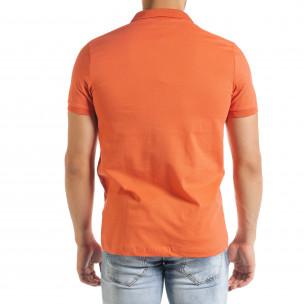 Basic polo мъжка тениска в оранжево  2