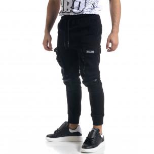 Мъжки панталон тип Jogger с обемни джобове