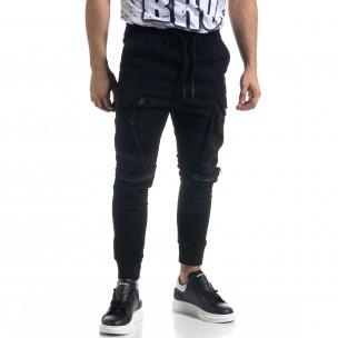 Мъжки панталон тип Jogger с обемни джобове  2
