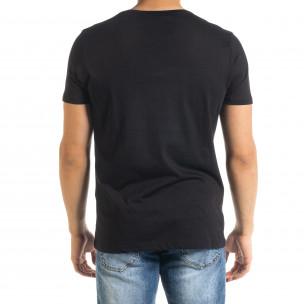 Мъжка тениска Panda NASA в черно 2