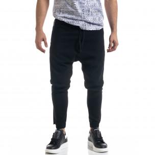 Лек мъжки панталон в черно с акценти  2