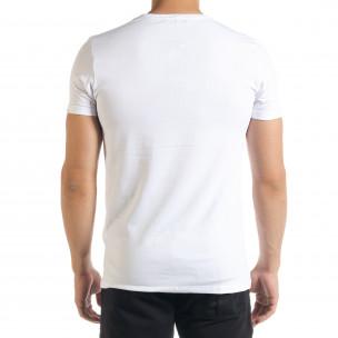 Бяла мъжка тениска You Can  2