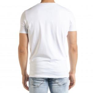 Бяла мъжка тениска 1 2