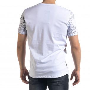 Бяла мъжка тениска Come At Me  2