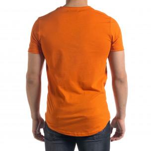 Basic мъжка тениска в оранжево  2
