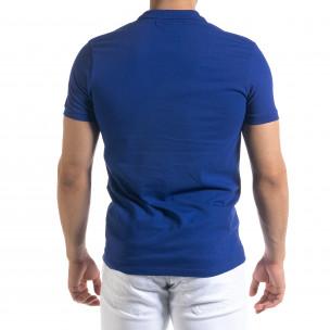 Basic мъжка синя тениска polo shirt  2