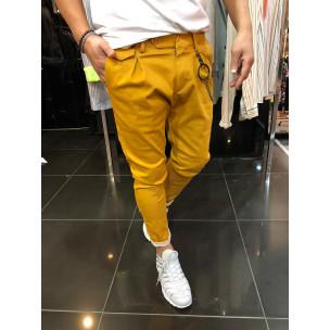 Мъжки камел панталон с аксесоар