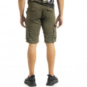 Мъжки карго бермуди милитъри зелено  2