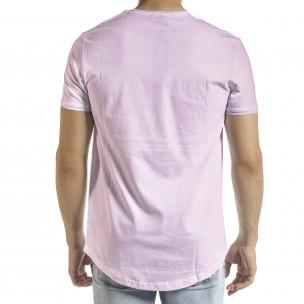 Basic мъжка тениска в светло лилаво 2