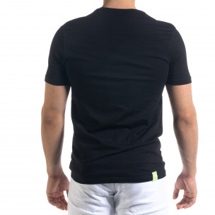 Черна мъжка тениска пикселиран принт  2