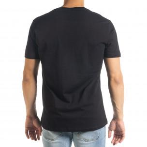 Черна мъжка тениска Freefly с бродерия 2