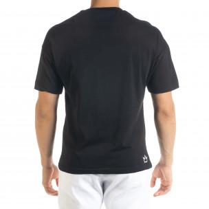 Черна мъжка тениска с йероглифи  2