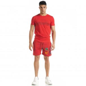 Червен мъжки спортен комплект North's 2
