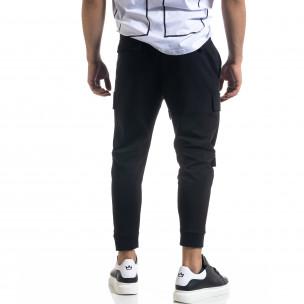Cropped Cargo мъжки панталон в черно  2