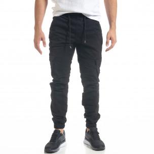 Мъжки черен Cargo Jogger панталон Blackzi