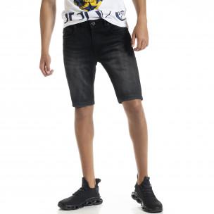 Big Size Basic мъжки черни къси дънки Blackzi