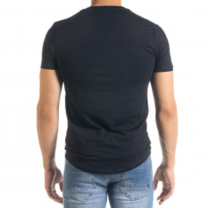 Basic O-Neck тъмносиня тениска 2
