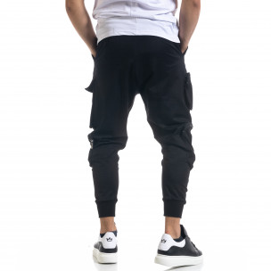 Мъжки еластичен панталон с обемни джобове 2