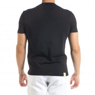 Мъжка черна тениска Keep on Rising 2