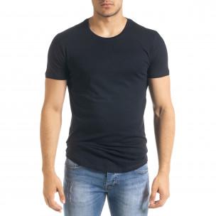 Basic O-Neck тъмносиня тениска