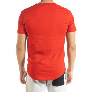 Basic мъжка тениска в червено 2