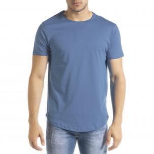 Basic O-Neck тениска цвят деним