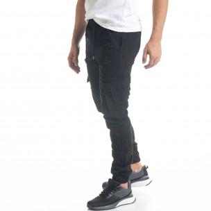 Мъжки черен Cargo Jogger панталон Blackzi 2