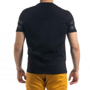 Мъжка тениска Сhange в черно  2