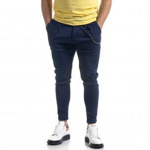 Мъжки син панталон с аксесоар