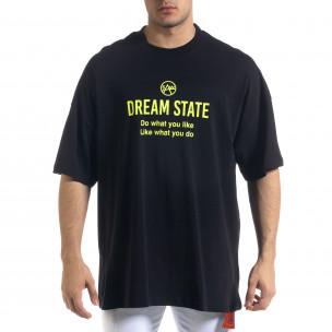 Super Oversize мъжка тениска в черно