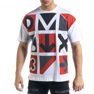 Мъжка бяла тениска Signs Oversize