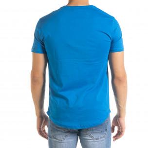 Basic мъжка тениска в синьо 2