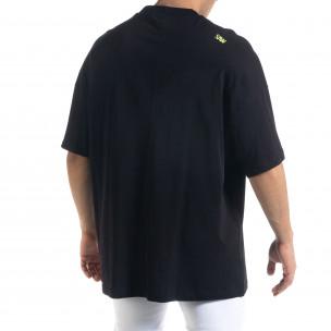 Super Oversize мъжка тениска в черно  2
