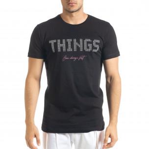 Черна мъжка тениска Things