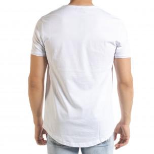 Basic мъжка тениска в бяло 2