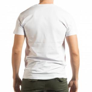 Бяла мъжка тениска BK  2