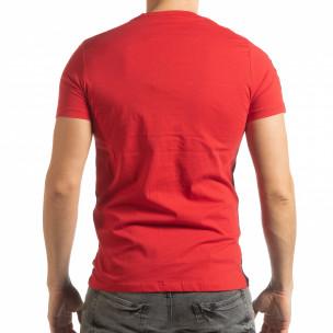 Мъжка червено-черна тениска New York  2