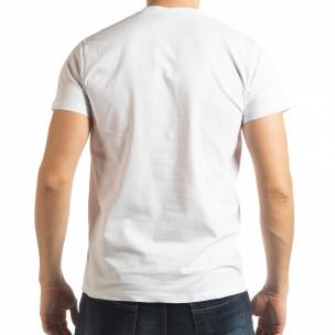 Мъжка бяла тениска Sound  2