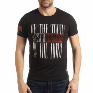 Черна мъжка тениска Resurrection